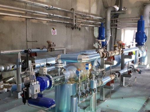 Réseaux vapeurs dans une centrale cogénération