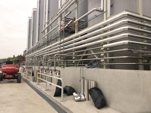 Réalisation d'une unité de stockage de produits manufacturés en Belgique